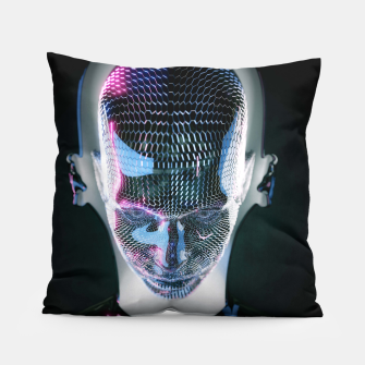 Thumbnail image of Abstract Portrait V Pillow, Live Heroes