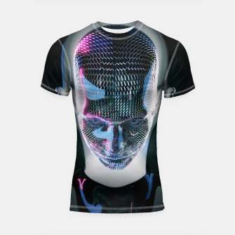 Thumbnail image of Abstract Portrait V Shortsleeve rashguard, Live Heroes