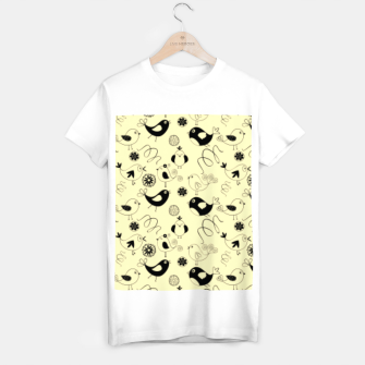 Thumbnail image of Cute cartoon birdies, simple animal illustration T-shirt regular, Live Heroes