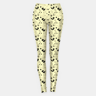 Miniature de image de Cute cartoon birdies, simple animal illustration Leggings, Live Heroes