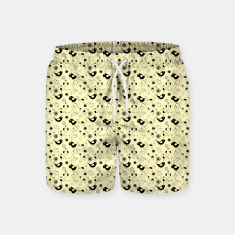 Miniature de image de Cute cartoon birdies, simple animal illustration Swim Shorts, Live Heroes