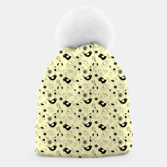 Thumbnail image of Cute cartoon birdies, simple animal illustration Beanie, Live Heroes