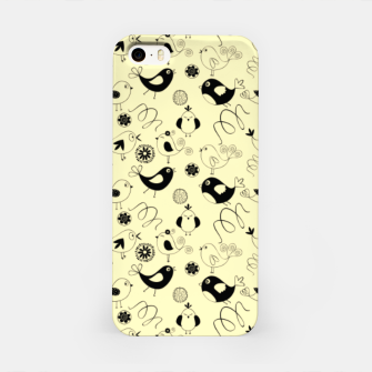 Miniatur Cute cartoon birdies, simple animal illustration iPhone Case, Live Heroes