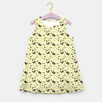 Miniatur Cute cartoon birdies, simple animal illustration Girl's summer dress, Live Heroes