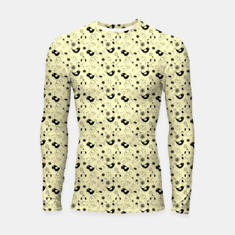 Miniatur Cute cartoon birdies, simple animal illustration Longsleeve rashguard , Live Heroes