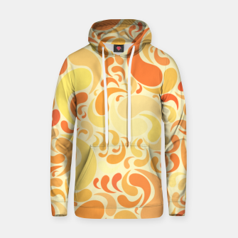 Thumbnail image of Sunset dancing drops in the air in burnt orange colors Hoodie, Live Heroes