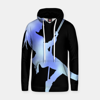 Thumbnail image of Climber girl blues hoody, Live Heroes
