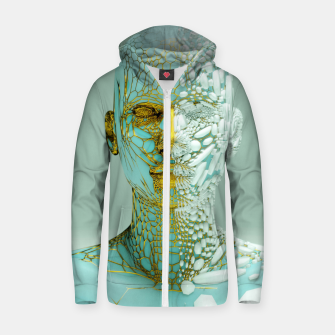 Thumbnail image of Abstract Portrait VI Zip up hoodie, Live Heroes