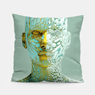 Thumbnail image of Abstract Portrait VI Pillow, Live Heroes