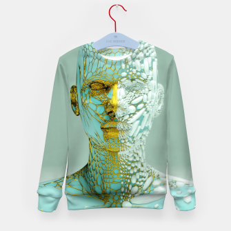 Thumbnail image of Abstract Portrait VI Kid's sweater, Live Heroes
