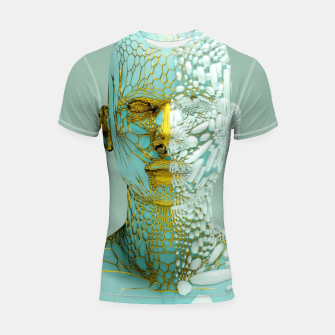 Thumbnail image of Abstract Portrait VI Shortsleeve rashguard, Live Heroes