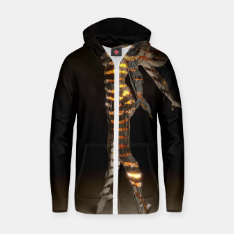 Thumbnail image of Abstract Portrait VII Zip up hoodie, Live Heroes