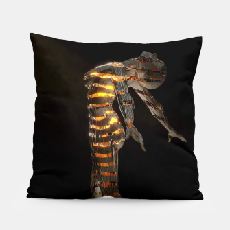 Thumbnail image of Abstract Portrait VII Pillow, Live Heroes