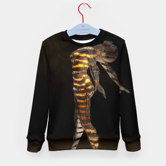 Thumbnail image of Abstract Portrait VII Kid's sweater, Live Heroes