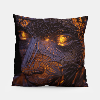 Thumbnail image of Abstract Portrait VIII Pillow, Live Heroes