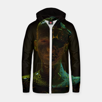 Thumbnail image of Abstract Portrait IV Zip up hoodie, Live Heroes
