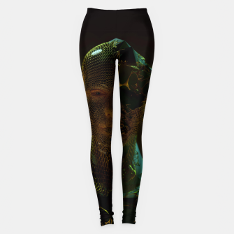 Thumbnail image of Abstract Portrait IV Leggings, Live Heroes