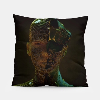Thumbnail image of Abstract Portrait IV Pillow, Live Heroes