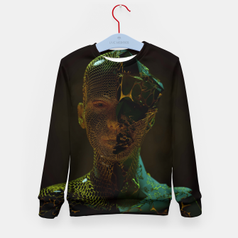 Thumbnail image of Abstract Portrait IV Kid's sweater, Live Heroes