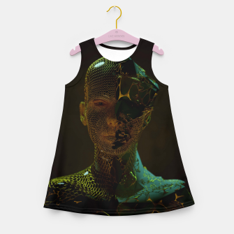 Thumbnail image of Abstract Portrait IV Girl's summer dress, Live Heroes