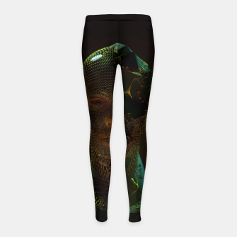 Thumbnail image of Abstract Portrait IV Girl's leggings, Live Heroes
