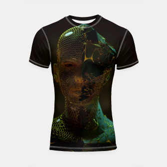 Thumbnail image of Abstract Portrait IV Shortsleeve rashguard, Live Heroes