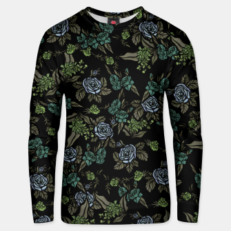 Miniatur Green Floral Unisex sweater, Live Heroes