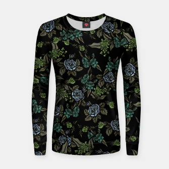 Miniatur Green Floral Women sweater, Live Heroes