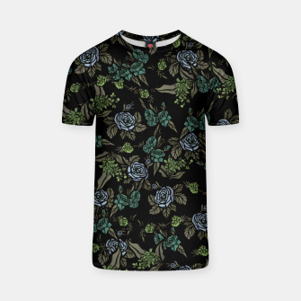 Thumbnail image of Green Floral T-shirt, Live Heroes