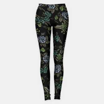 Thumbnail image of Green Floral Leggings, Live Heroes