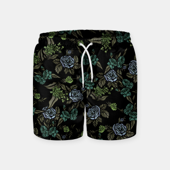 Miniatur Green Floral Swim Shorts, Live Heroes