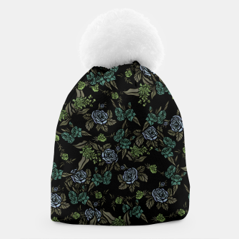 Thumbnail image of Green Floral Beanie, Live Heroes