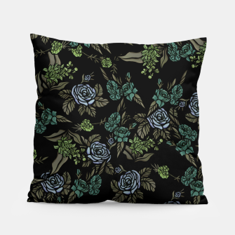 Miniatur Green Floral Pillow, Live Heroes