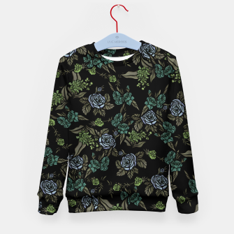 Miniatur Green Floral Kid's sweater, Live Heroes