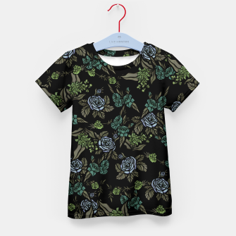 Thumbnail image of Green Floral Kid's t-shirt, Live Heroes