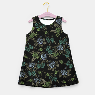Thumbnail image of Green Floral Girl's summer dress, Live Heroes