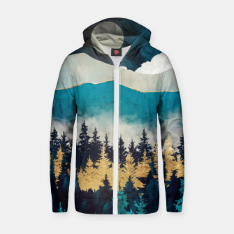Thumbnail image of Evening Mist Zip up hoodie, Live Heroes