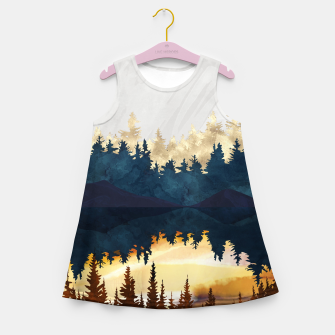Thumbnail image of Fall Sunset II Girl's summer dress, Live Heroes