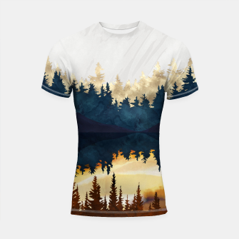 Thumbnail image of Fall Sunset II Shortsleeve rashguard, Live Heroes