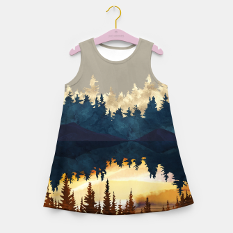 Thumbnail image of Fall Sunset I Girl's summer dress, Live Heroes