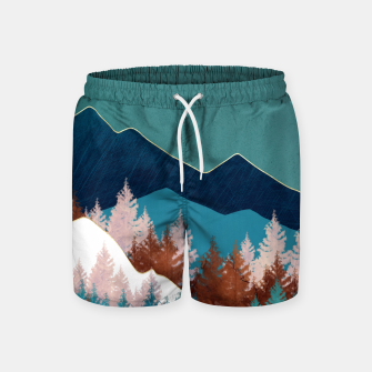 Thumbnail image of Summer Trees Swim Shorts, Live Heroes