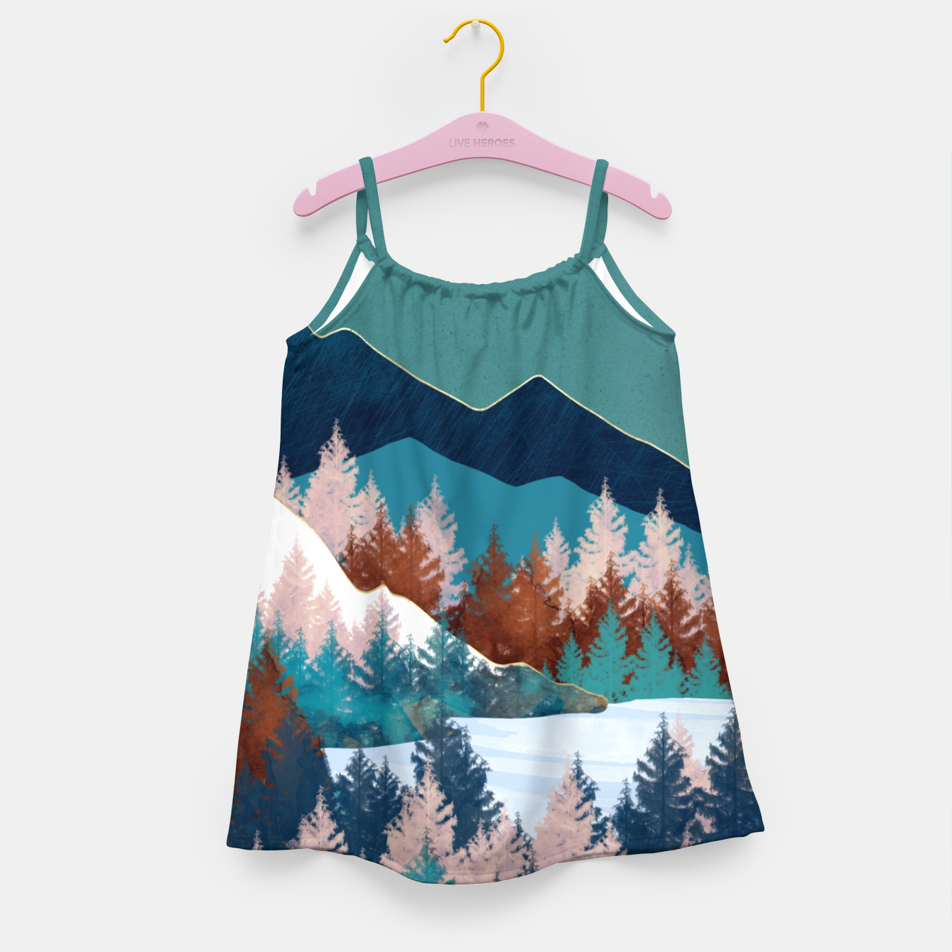 Image of Summer Trees Girl's dress - Live Heroes