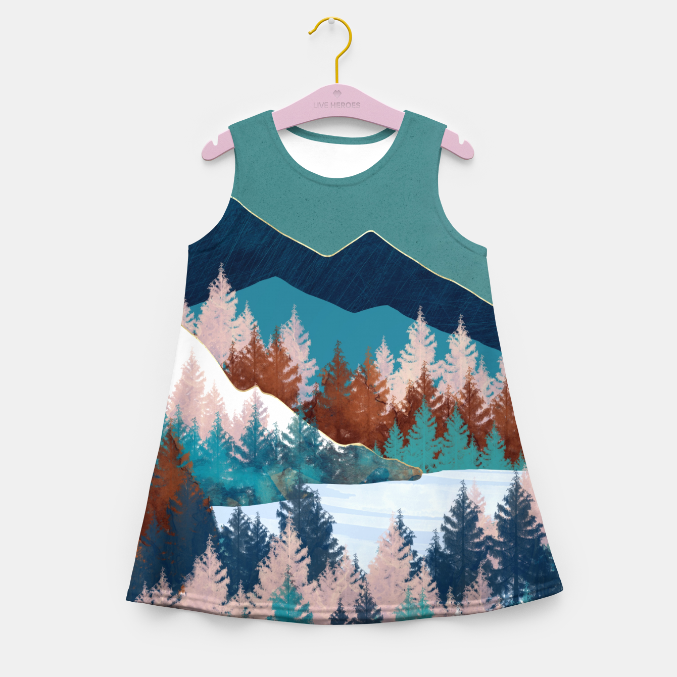 Image of Summer Trees Girl's summer dress - Live Heroes