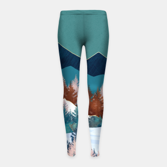 Thumbnail image of Summer Trees Girl's leggings, Live Heroes