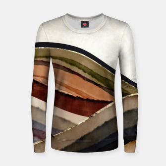 Fall Abstract I Women sweater thumbnail image