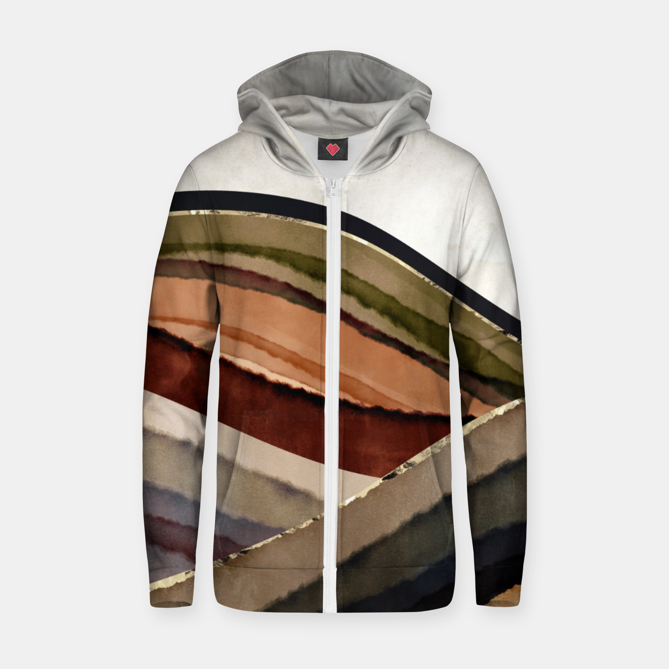 Image of Fall Abstract I Zip up hoodie - Live Heroes