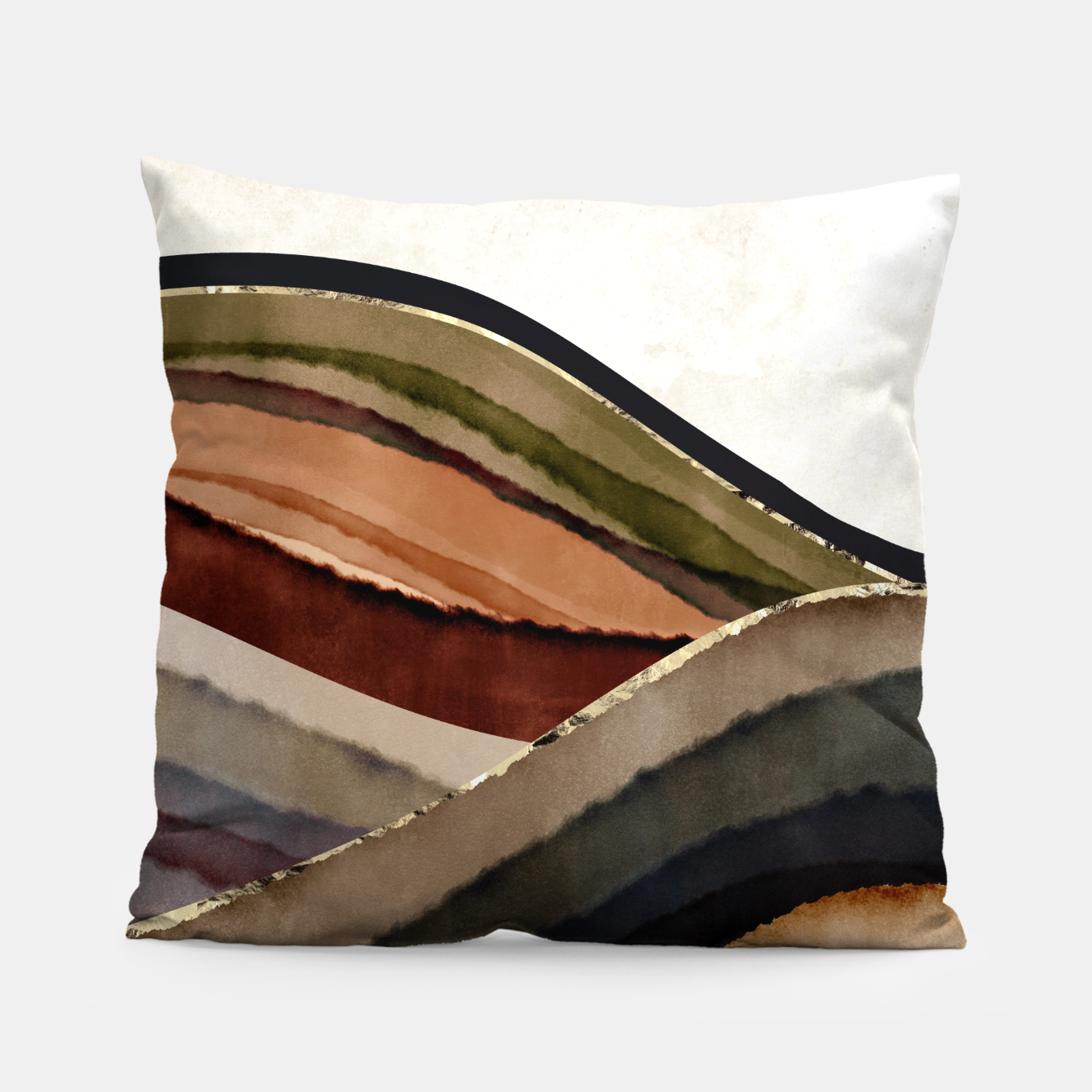 Image of Fall Abstract I Pillow - Live Heroes