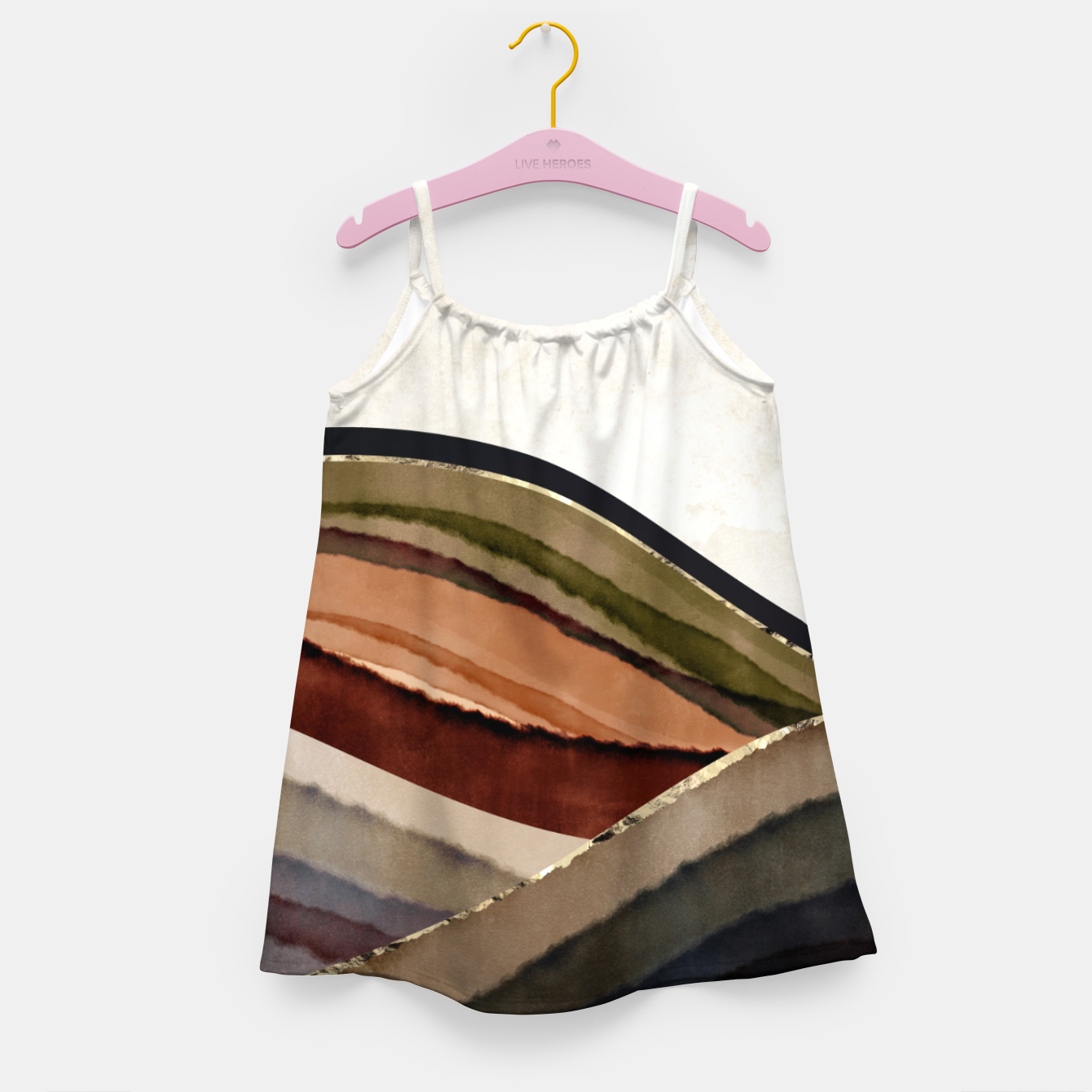 Image of Fall Abstract I Girl's dress - Live Heroes