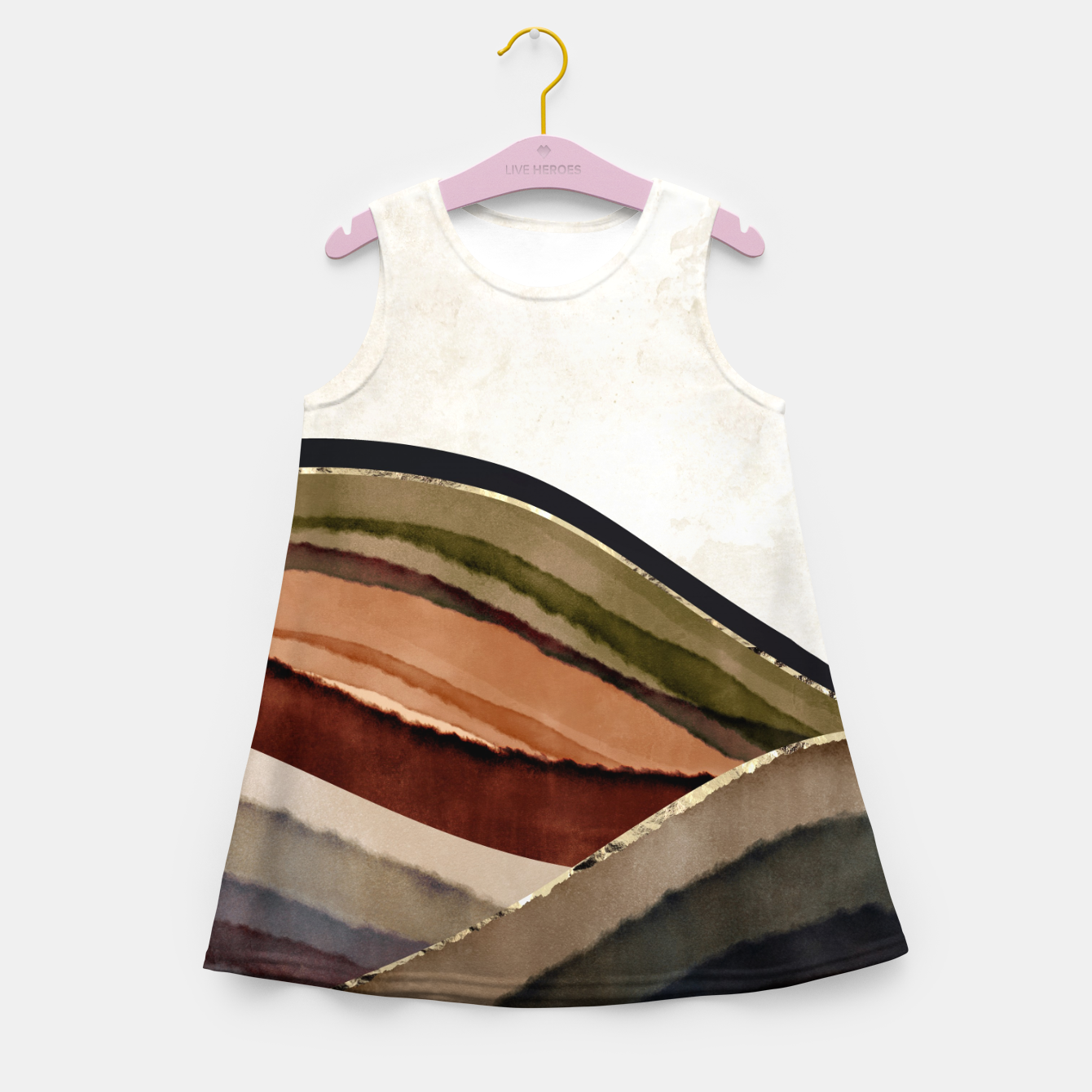 Image of Fall Abstract I Girl's summer dress - Live Heroes