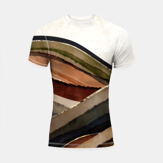Thumbnail image of Fall Abstract I Shortsleeve rashguard, Live Heroes